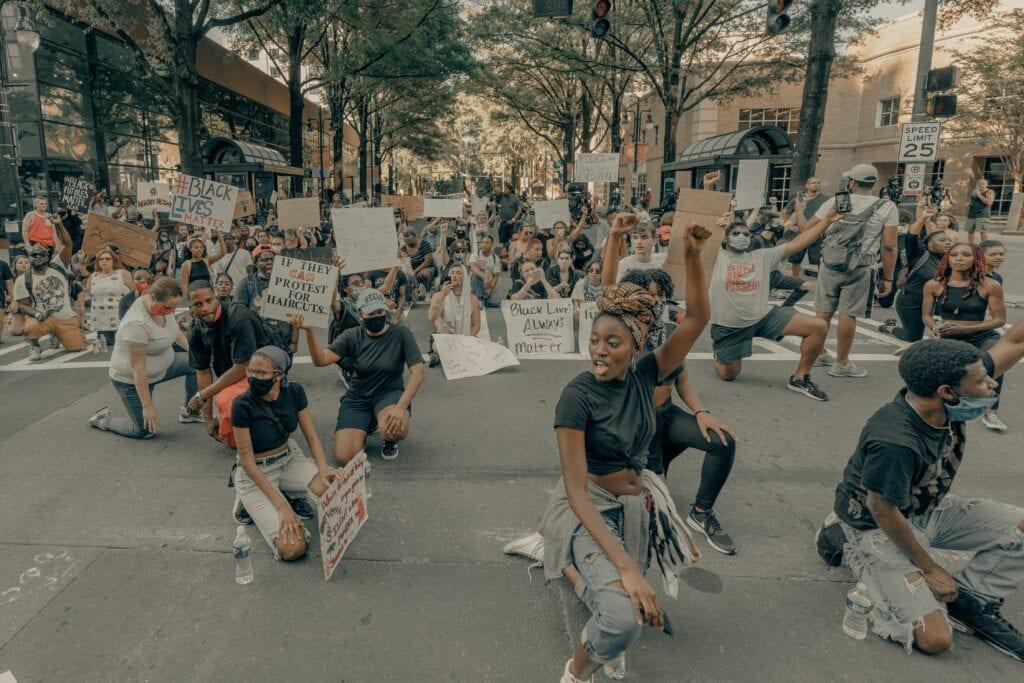 George Floyd-protest i Uptown Charlotte, 30 maj 2020