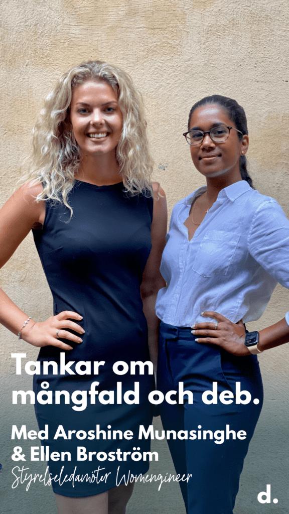 Ellen och Aroshine från Womengineers styrelse är deltagare i årets Diverse Executive Boards-program.